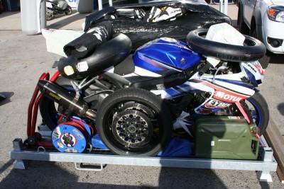 Beladen motorkrat